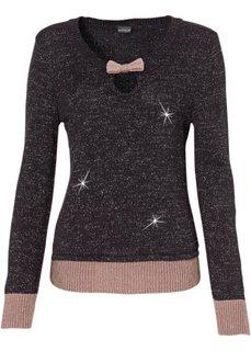 Пуловер (экрю/серый/серебристый) Bonprix