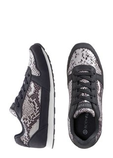 Кроссовки (черный с рисунком змеи/серый) Bonprix