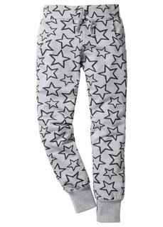 Трикотажные брюки (черный с принтом сердечек) Bonprix