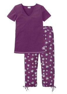 Пижама-капри (с рисунком) Bonprix