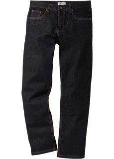 Джинсы Regular Fit Straight, низкий + высокий рост (U + S) (черный) Bonprix
