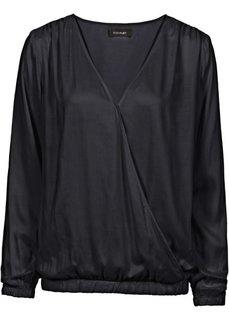Блузка с эффектом запаха (олений/новый хаки/зеленый хаки) Bonprix