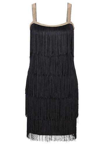 Платье с бахромой (цвет белой шерсти)