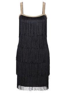 Платье с бахромой (цвет белой шерсти) Bonprix