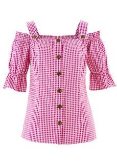 Традиционная клетчатая блузка (красный/белый в клетку) Bonprix