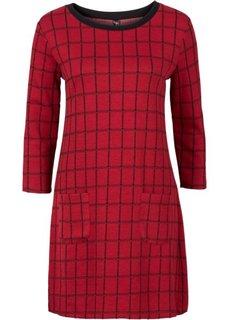Жаккардовое платье (черный/цвет белой шерсти в кле) Bonprix