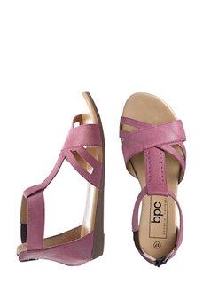 Кожаные сандалии (ярко-розовый) Bonprix