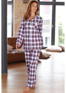Пижама (белый/красный/лазурный/темно-с) Bonprix