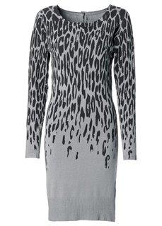 Вязаное платье (верблюжий с узором) Bonprix