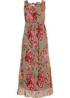 Платье (кремовый с принтом) Bonprix