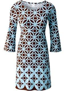 Платье (темно-синий/голубой с принтом) Bonprix