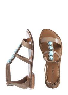 Кожаные сандалии (бежевый) Bonprix