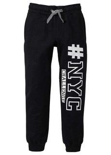 Трикотажные брюки со стильным принтом, Размеры 116-170 (светло-серый меланж) Bonprix