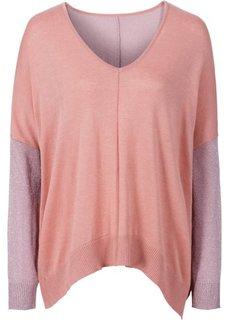 Пуловер с люрексом (нежно-голубой/серебристый) Bonprix