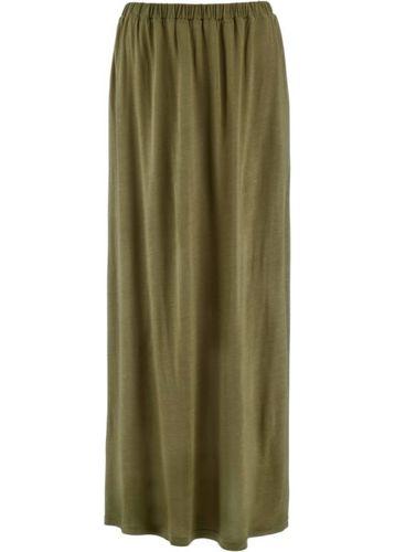 Трикотажная юбка (светло-серый меланж)