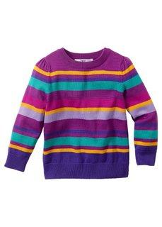 Вязаный пуловер для девочек, Размеры  80/86-116/122 (светло-серый меланж/пастельная) Bonprix