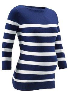 Мода для беременных: пуловер в полоску (фиолетовая орхидея/цвет белой ) Bonprix