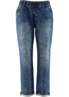Трикотажные брюки в стиле деним, cредний рост (N) (синий) Bonprix
