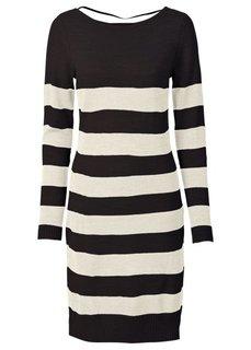 Вязаное платье (светло-серый/темно-серый мелан) Bonprix