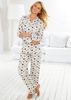 Трикотажная пижама (в горошек) Bonprix
