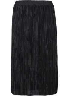 Блестящая юбка-миди (серебристый) Bonprix