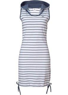 Трикотажное платье (светло-серый меланж/белый в по) Bonprix