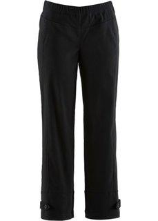 Бенгалиновые брюки 7/8 без застежки (белый) Bonprix