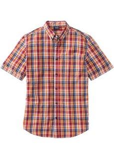 Клетчатая рубашка Regular Fit с коротким рукавом (зеленый в клетку) Bonprix