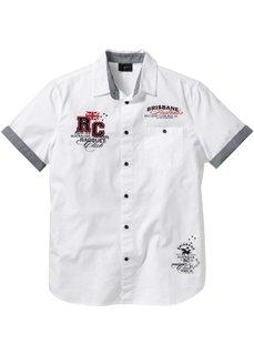 Рубашка Regular Fit с коротким рукавом (черный) Bonprix