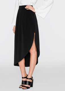 Асимметричная юбка (черный) Bonprix