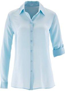 Шелковая блузка с баской ПРЕМИУМ (белый) Bonprix