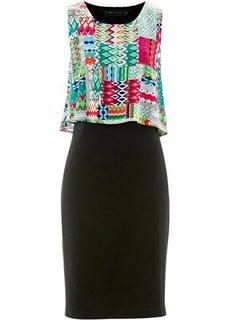 Платье (нектариновый/различные расцвет) Bonprix