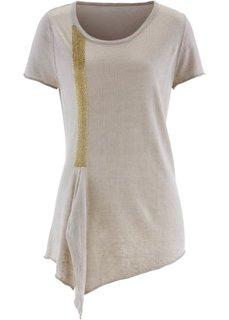Пуловер из льна и вискозы ПРЕМИУМ (цвет белой шерсти) Bonprix