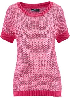 Ажурный пуловер с пайетками (аква) Bonprix