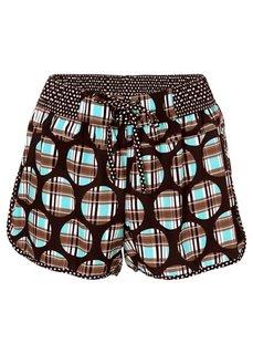 Пляжные шорты (синий/ярко-розовый в клетку) Bonprix