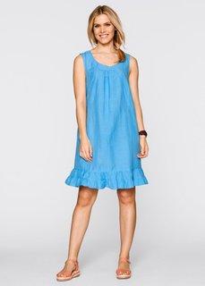 Льняное платье (альпинно-синий) Bonprix