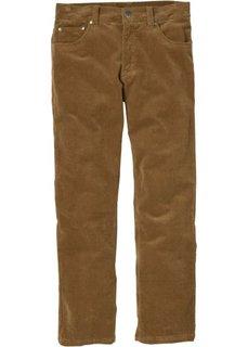 Вельветовые брюки, низкий + высокий рост (U + S) (черный) Bonprix