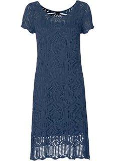 Вязаное платье (лилово-синий) Bonprix