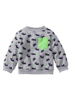 Мода для малышей: свитшот из биохлопка, Размеры  56/62-104/110 (светло-серый меланж) Bonprix