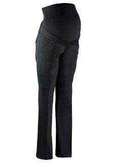Мода для беременных: брюки-стретч со свободными прямыми брючинами (серебристый матовый) Bonprix