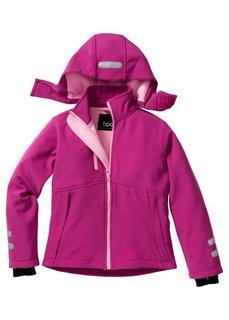 Функциональная куртка-софтшелл со светоотражателями, Размеры 128/134-164/170 (капри-синий/дымчато-серый) Bonprix