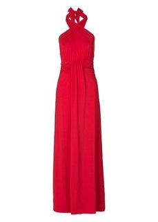 Платье с эффектом запаха (кремовый) Bonprix
