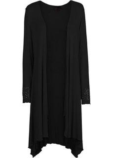 Трикотажная куртка (светло-серый меланж) Bonprix