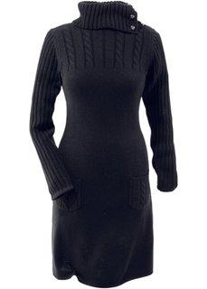 Вязаное платье (серый меланж) Bonprix