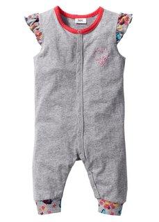 Мода для малышей: болеро + комбинезон из биохлопка (2 изд.), Размеры  56/62-92/98 (светло-серый меланж с рисунком) Bonprix