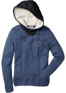 Пуловер Regular Fit с капюшоном (темно-коричневый) Bonprix