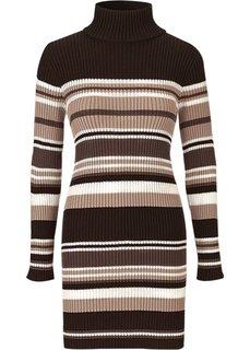 Платье (черный/серый) Bonprix