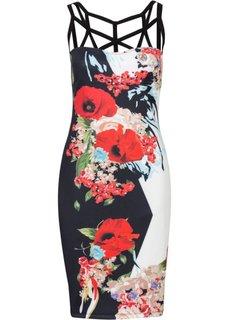 Платье (белый в цветочек) Bonprix