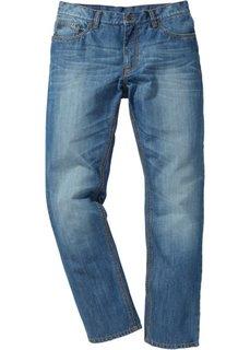 Джинсы Regular Fit Straight, cредний рост (N) (темно-синий «потертый») Bonprix