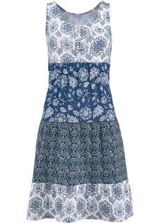 Трикотажное платье без рукавов (индиго) Bonprix